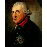 Bookmark 'Frederick the Great with the Flute', gold-plated