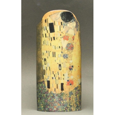 Gustav Klimt Vase, The Kiss, oval