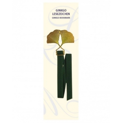 Bookmark 'Ginkgo', gold..