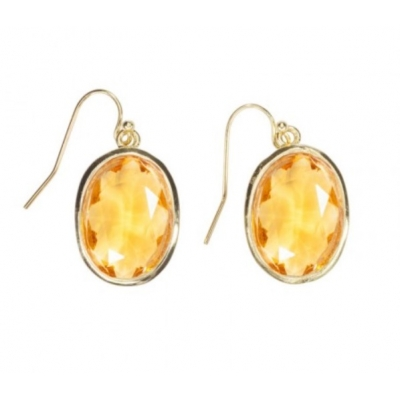 Earrings 'Louise' yellow sun