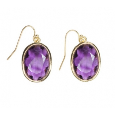 Earrings 'Louise' amethyst