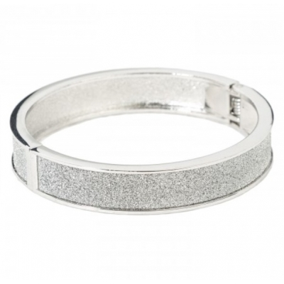 "Bracelet ""Strass"", silver-coloured"