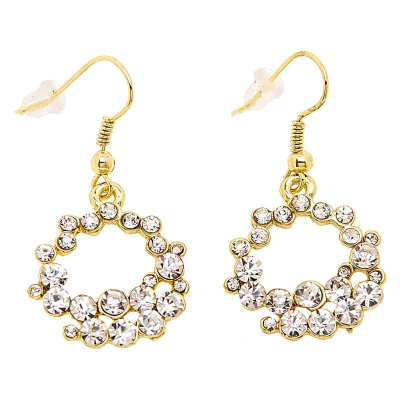 "Earrings ""Rhinestone Hoops"""