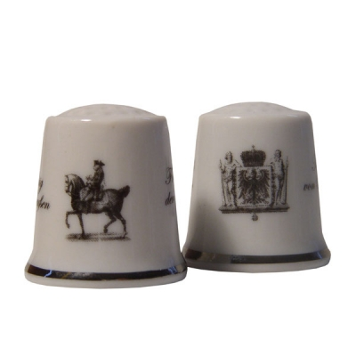 "Thimble ""Frederick the Great"" monochrome"
