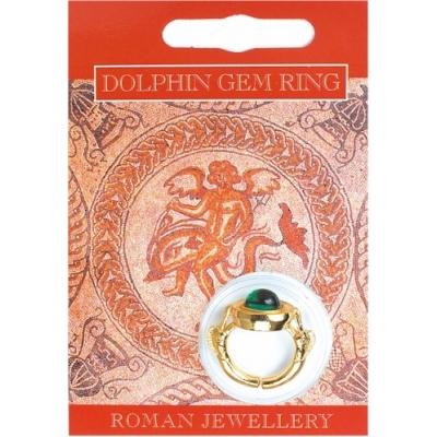 Dolphin Gem Ring - Gold Plated