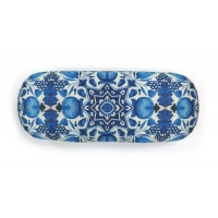 Glasses Case Blue Dutch Tiles with blue Tulip