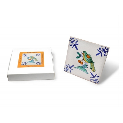 Tile with a Dutch motif - a ..