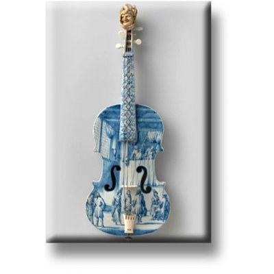 Fridge Magnet Faience Violin..