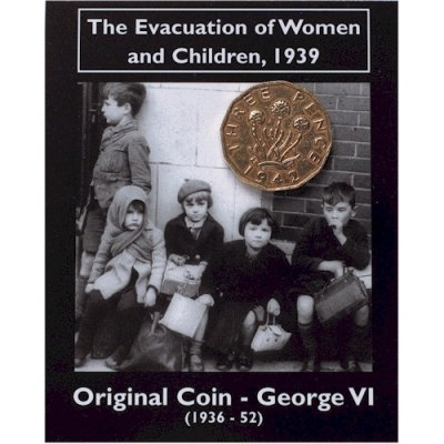 The Evacuation of Women and Children, 1939, Original Coin George VI