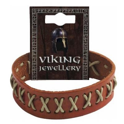 Viking Stitched Leather Stud..