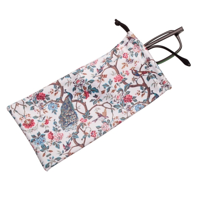 "Glasses pouch ""Glorious Peacock"""