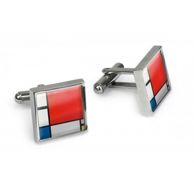 Cufflinks, Mondrian Composition II in Red 1930