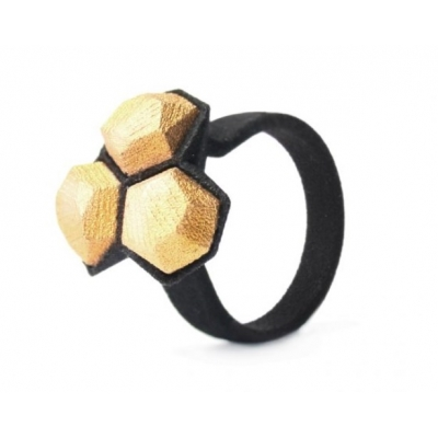 Ring Calyx n. 1, nylon and stainless steel