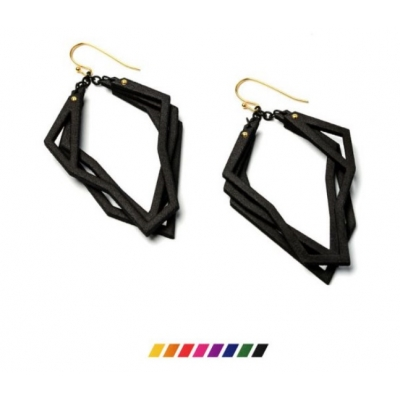 Earrings Solitaire, 3D Nylon