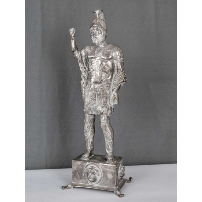 Mars sculpture with base 55cm silver plated