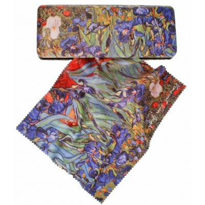 Glasses Case and Cleaning Cloth: Vincent Van Gogh Irises 1..
