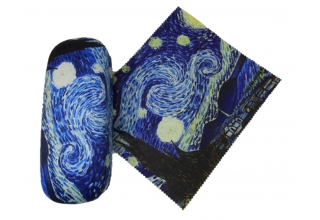 Eye Glasses Case and Cleaning Cloth: Vincent Van Gogh Starry Night
