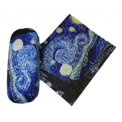 Eye Glasses Case and Cleaning Cloth: Vincent Van Gogh Star..