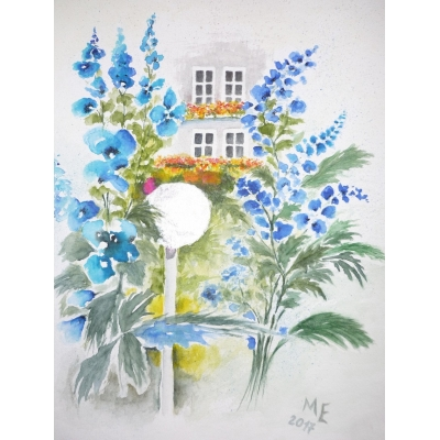 Delphinium in a German ..