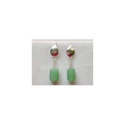 Roman hook earrings with Aventurine