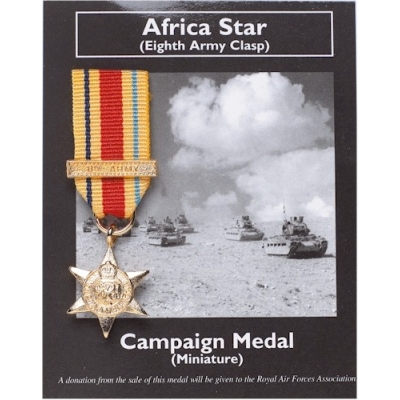 AFRICA STAR Eighth Army..