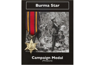 BURMA STAR BRITISH CAMPAIGN MEDAL MINI REPLICA