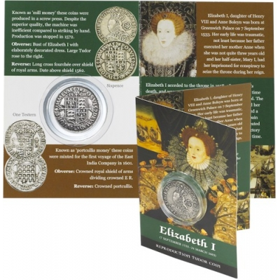 Elizabeth I Replica Coin - Sixpence