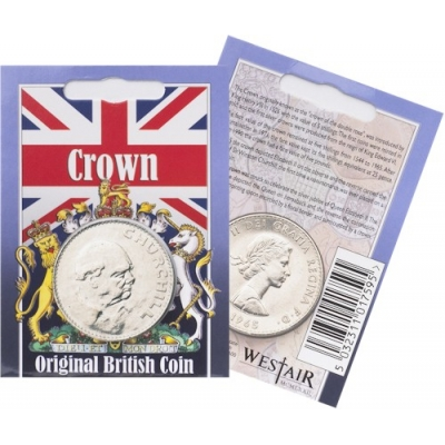 Elizabeth II Churchill Crown - Original Coin in Pack