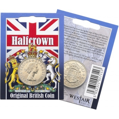 Elizabeth II - Half Crown Original Coin in a Pack