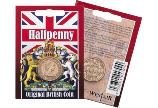 Elizabeth II - Half Penny Original Coin in a Pack