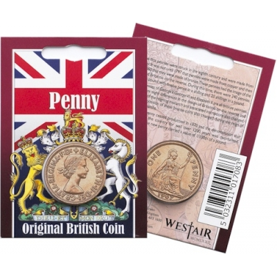 Elizabeth II - Penny Original Coin in a Pack