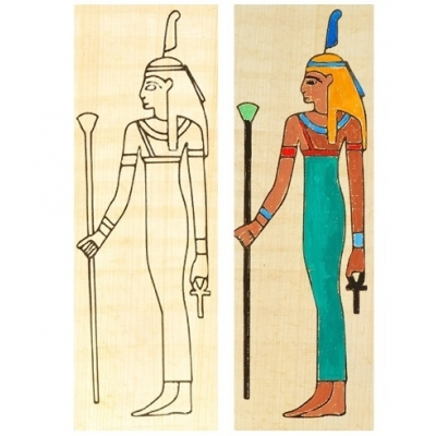 Egyptian bookmark Godde..