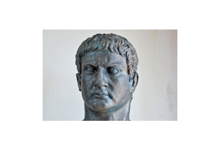 Bust of military commander Marcus Agrippa, bronze