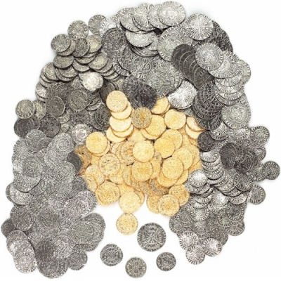 50 x MEDIEVAL REPLICA COINS PENNIES, HALF-GROAT, GROAT AND..