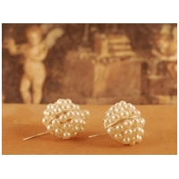 Pearl Basket Earrings