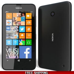Nokia Lumia 630 Dual Sim Windows 8.1 Unlocked Smartphone 8 GB Black