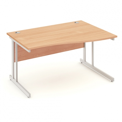 Impulse 1400mm Right Handed Wave Desk Cantilever leg