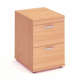 Impulse 2 Drawer Wooden Filing Cabinet