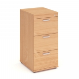Impulse 3 Drawer Wooden Filing Cabinet