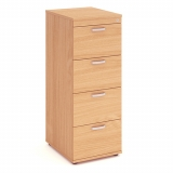Impulse 4 Drawer Wooden Filing Cabinet