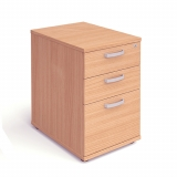 Impulse 3 Drawer Desk High Pedestal 60..