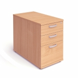Impulse 3 Drawer Desk High Pedestal 80..
