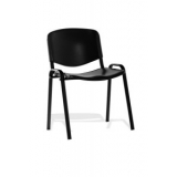 4 leg stacking polypropylene seat blac..