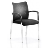 Stacking chair chrome framed conferenc..
