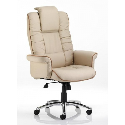 Luxury high back leather executive office armchair