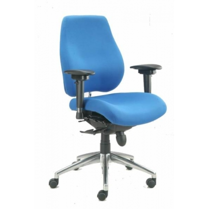 High backed posture plus task office chair with adjustable arms