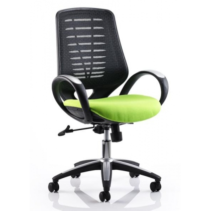 Mesh high back task operators office chair with fixed loop arms