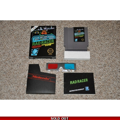 Rad Racer - Black Box Variant CIB with 3-D Glasses!