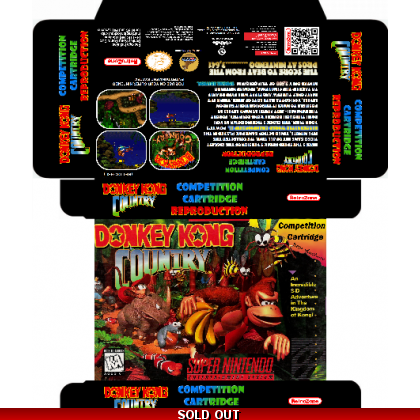 Donkey Kong Competition Cartridge Box