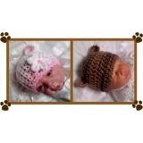 37 - Bear Ears Beanie Hat Crochet Patt..